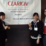 The University of Washington's 2014 CLARION National Case Competition first place winners. From left to right: Eric Sid, Nicole Kim, Huang N. Le and Juan P. Magana.