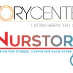 StoryCenter logo (Listen Deeply. Tell Stories.) and Nurstory logo (Caring for stories. Caring for each other.)